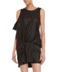 Nicholas K - Viper Leather Mini Dress - Lyst