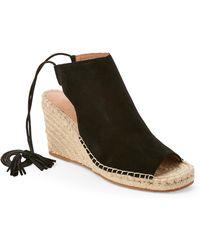 Bettye By Bettye Muller - Black Hailey Ankle-Tie Wedge Espadrille Sandals - Lyst
