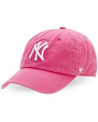 47 Brand - Garment Washed New York Yankees Cap - Lyst