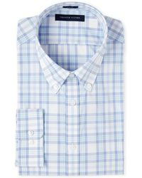 Isaac Mizrahi New York - Azure Plaid Slim Fit Dress Shirt - Lyst