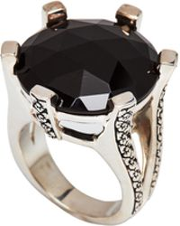 Stephen Dweck - Sterling Silver & Black Agate Ring Size 7 - Lyst