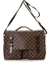 Louis Vuitton | Damier Ebene Broadway Messenger Bag - Vintage | Lyst