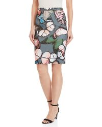 GAUDI - Butterfly Print Knit Pencil Skirt - Lyst