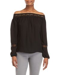 Sioni - Lace Trim Off-the-shoulder Top - Lyst