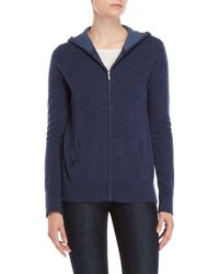 Ply Cashmere - Cashmere Zip Hoodie - Lyst
