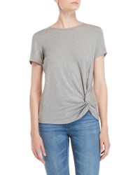 Workshop - Knotted Front Tee - Lyst