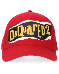 44ca61aa20b12b DSquared² Destroyed Canvas Baseball Hat in Natural for Men - Lyst