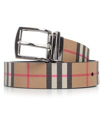 Burberry - Chequered Buckle Belt - Lyst