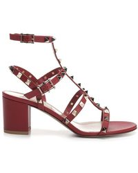 e2a7c76c7e4 Lyst - Givenchy Cage Strap Kitten Heel Sandal in Pink