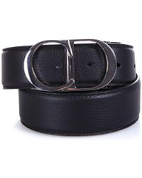 Dior Homme - Cd Buckle Leather Belt - Lyst