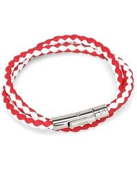 Tod's - White/red Leather Bracelet - Lyst