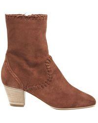 Alberta Ferretti - Chunky Ankle Boots - Lyst