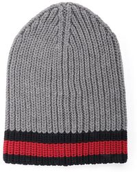 5b27e8abcde Lyst - Dolce   Gabbana Cable Knit Beanie in Gray for Men