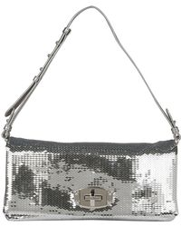 9c621424522f Chanel White   Brown Sequin Small Flap Bag - Lyst