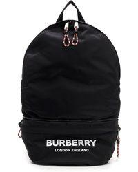 Burberry - Logo Backpack - Lyst
