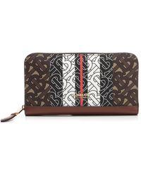 Burberry - Monogram Stripe Zip Around Wallet - Lyst