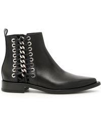 Alexander McQueen - Chain Detailed Ankle Boots - Lyst