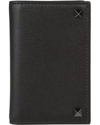 Valentino - Garavani Rockstud Leather Wallet - Lyst