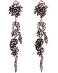 Ferragamo - Floral Earrings - Lyst