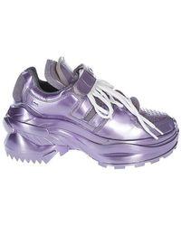 Maison Margiela - Retro Fit Metallic Sneakers - Lyst