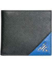 Prada - Logo Leather Wallet - Lyst