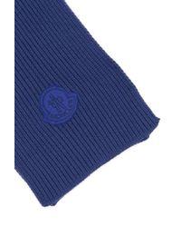 Moncler - Basic Ribbed Logo Scarf - Lyst