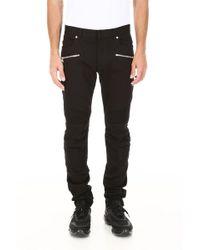 Balmain - Biker Skinny Jeans - Lyst
