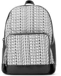 Balmain - Logo All Over Backpack - Lyst