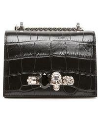 74523c16eba6 Miu Miu. Dahlia Red Leather Handbag.  950. Vestiaire Collective · Alexander  McQueen - Jewel Satchel Shoulder Bag - Lyst