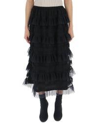 RED Valentino - Layered Ruffle Skirt - Lyst