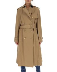 Versace - Baroque Printed Belted Trench Coat - Lyst