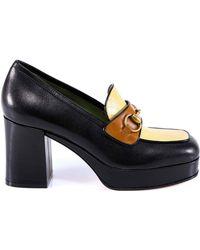0aedfef4c53 Leather Mid-heel Loafers.  840. Mytheresa · Gucci - Horsebit Platform  Loafers - Lyst