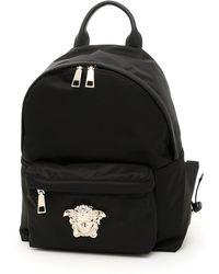 a100886d33 Versace Black Nylon Medusa Backpack in Black for Men - Lyst