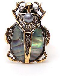 Alexander McQueen - Bug Stone Ring - Lyst
