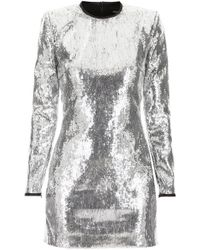 DSquared² - Long Sleeve Sequined Dress - Lyst