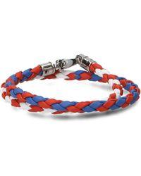 Tod's - Interwoven Double Row Bracelet - Lyst