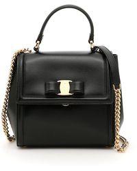 8eee02adb028 Lyst - Ferragamo Gelly Medium Quilted Vara Leather Shoulder Bag in Black