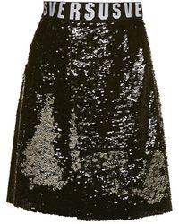 Versus - Sequin Flared Mini Skirt - Lyst
