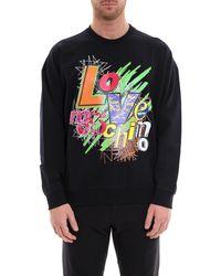 Love Moschino - Logo Print Sweater - Lyst