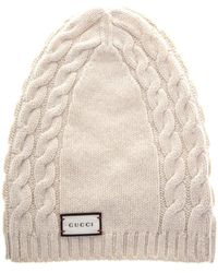 f86dca1532c41 Gucci - Textured Wool Beanie Hat - Lyst