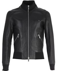 Dior Homme - Zipped Leather Jacket - Lyst