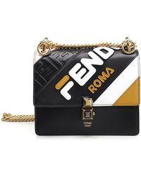 38da7398d6 Lyst - Fendi Roma Italy 1925 Shoulder Bag in Brown