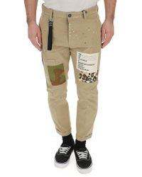 DSquared² - Logo Patch Trousers - Lyst