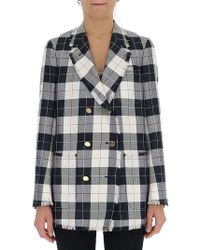 Thom Browne - Checked Double Breasted Jacket - Lyst