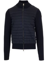 Moncler - Padded Gilet Cardigan - Lyst