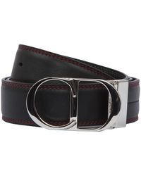Dior Homme - Red Stitched Logo Buckle Belt - Lyst