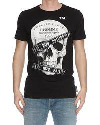 db87fc5b52 Lyst - Philipp Plein Cotton Casino T-Shirt in Black for Men