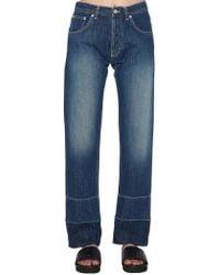 Loewe - Embroidered Straight Leg Jeans - Lyst