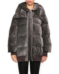 Stella McCartney - Hooded Padded Oversized Coat - Lyst