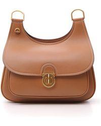 ed8cc231783e Tory Burch Farrah Shoulder Bag in Blue - Lyst